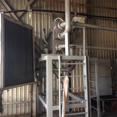 Сооружения предварительной очистки предприятия по переработке древесины