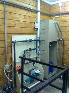 налогоджувальні роботи на очисних спорудах молочного та м'ясного цеху